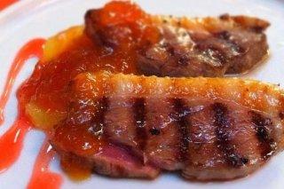 Receta de magret de pato con mermelada
