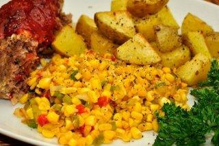 Receta de maíz con pimiento