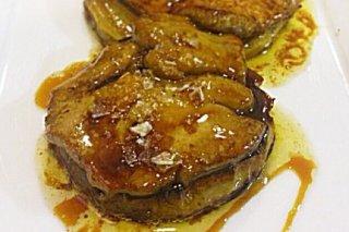 Receta de manzana caramelizada con foie