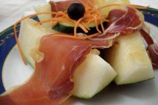 Receta de melón con jamón