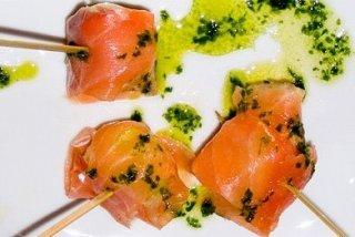 Receta de melón con salmón
