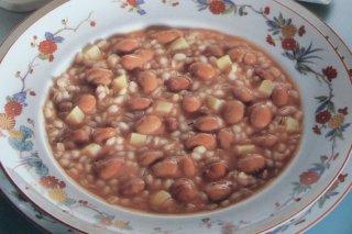 Receta de menestra de cebada y judías rojas