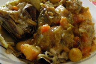 Receta de menestra de verduras con carne