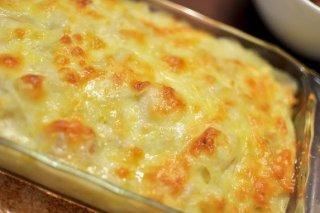Receta de merluza  a los tres quesos