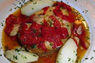 Receta de merluza en salsa de pimientos