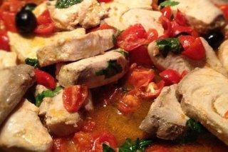 Receta de mero con tomate