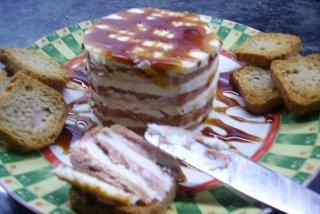 Receta de milhojas de foie y queso de cabra a la miel