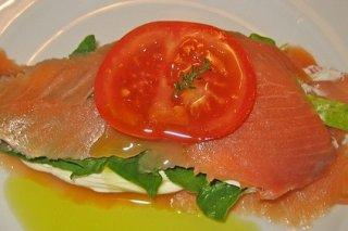Receta de milhojas de salmón y queso