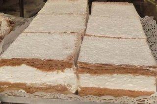 Receta de milhojas de nata o merengue