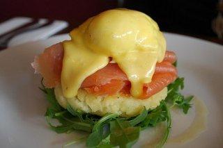 Receta de montaña de patata, salmón y huevo