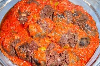 Receta de morcillas con tomate