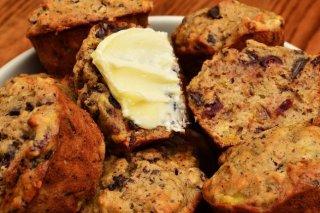 Receta de muffins de chocolate y plátano