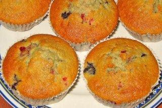 Receta de muffins de frutos rojos