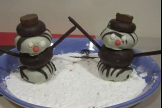 Receta de muñecos de nieve dulces