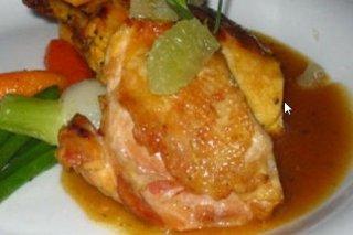Receta de muslos de pollo con azafrán