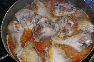Receta de muslos de pollo en salsa