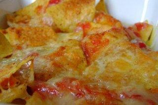 Receta de nachos con queso y bacon