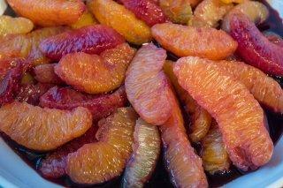 Receta de naranjas al vino tinto