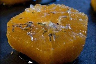 Receta de naranjas con miel de tomillo y estragón