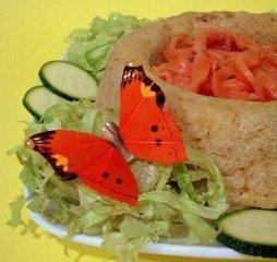 Receta de nido de arroz con salmón ahumado