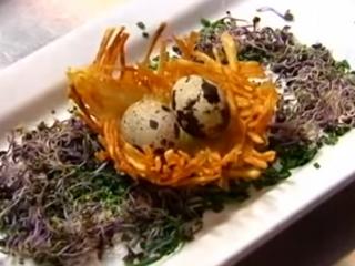 Receta de nidos de patata