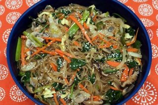 Receta de noodles con verduras