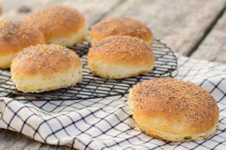 Receta de pan de hamburguesa con semillas