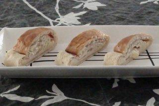 Receta de pan relleno de jamón y queso