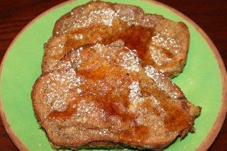 Receta de pan tostado francés con canela
