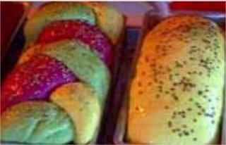 Receta de pan tricolor