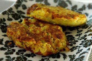 Receta de pancakes de coliflor y patatas