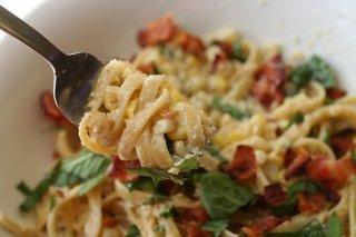 Receta de pasta al pesto con anchoas