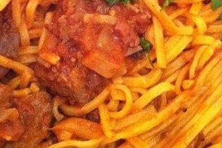 Receta de pasta con pollo en salsa