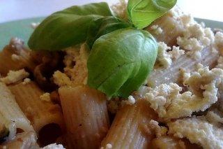 Receta de pasta con salsa de champiñones