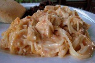 Receta de pasta con salsa de pimientos del piquillo