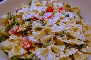 Receta de pasta con tomate y mayonesa