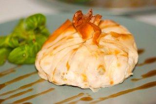 Receta de pasta filo rellena de setas y queso