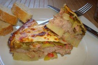 Receta de pastel de carne, patatas y verduras