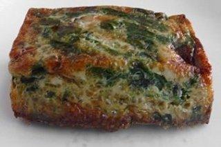 Receta de pastel de espinacas a la catalana con gambas