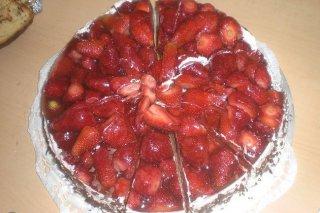 Receta de pastel de fresas con crema