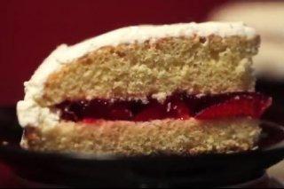Receta de pastel de fresas con nata