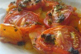 Receta de pastel de patata y tomate