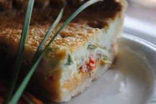 Receta de pastel de puerros, jamón y queso