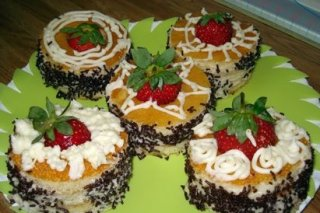 Receta de pasteles de kiwi y fresa