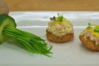 Receta de pasteles salados de gambas y espinacas