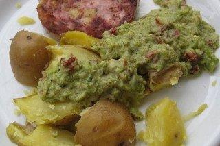 Receta de patatas al horno con guacamole