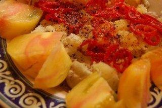 Receta de patatas al microondas con tomate
