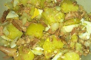 Receta de patatas con atún