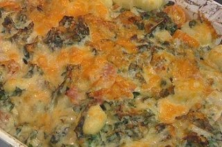 Receta de patatas con espinacas gratinadas