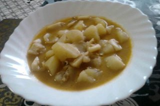 Receta de patatas con sepia
